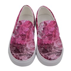 Pink Crystal Fractal Women s Canvas Slip Ons