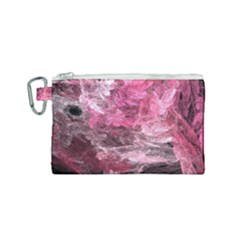 Pink Crystal Fractal Canvas Cosmetic Bag (small)