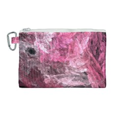 Pink Crystal Fractal Canvas Cosmetic Bag (large)