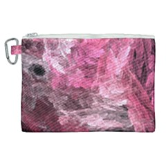 Pink Crystal Fractal Canvas Cosmetic Bag (xl)