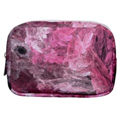 Pink Crystal Fractal Make Up Pouch (small)