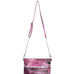 Pink Crystal Fractal Mini Crossbody Handbag