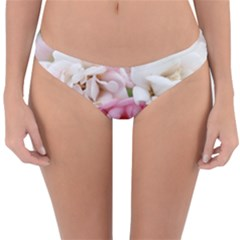 Pink And White Flowers Reversible Hipster Bikini Bottoms