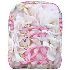 Pink And White Flowers Full Print Backpack