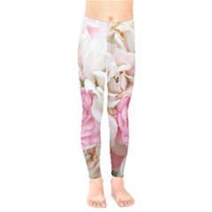 Pink And White Flowers Kids  Legging