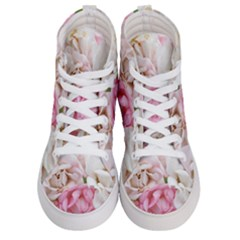Pink And White Flowers Men s Hi-top Skate Sneakers