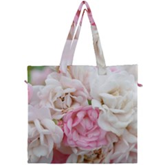 Pink And White Flowers Canvas Travel Bag
