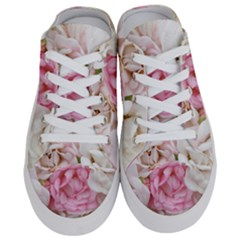 Pink And White Flowers Half Slippers