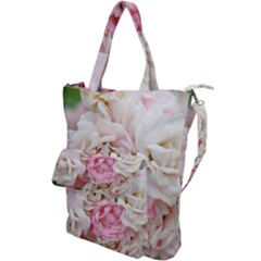 Pink And White Flowers Shoulder Tote Bag