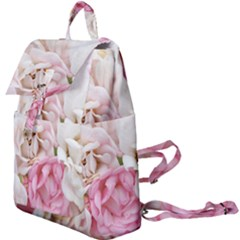 Pink And White Flowers Buckle Everyday Backpack