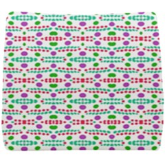 Retro Purple Green Pink Pattern Seat Cushion by BrightVibesDesign