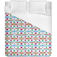 Retro Pink Green Blue Orange Dots Pattern Duvet Cover (california King Size) by BrightVibesDesign