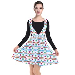 Retro Pink Green Blue Orange Dots Pattern Other Dresses