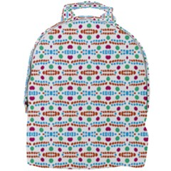 Retro Pink Green Blue Orange Dots Pattern Mini Full Print Backpack