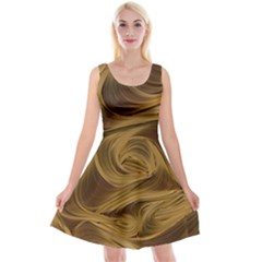 Paper Art Paper Art Eddy Yellow Reversible Velvet Sleeveless Dress