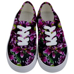 Maroon And White Mums Kids  Classic Low Top Sneakers