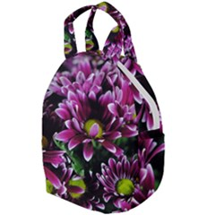 Maroon And White Mums Travel Backpacks by bloomingvinedesign