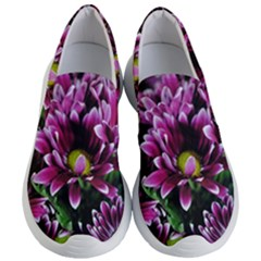 Maroon And White Mums Women s Lightweight Slip Ons