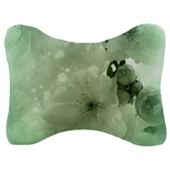 Wonderful Flowers In Soft Colors Velour Seat Head Rest Cushion by FantasyWorld7