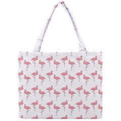 Pink Flamingo Pattern Classic Mini Tote Bag by CrypticFragmentsColors