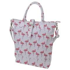 Pink Flamingo Pattern Classic Buckle Top Tote Bag by CrypticFragmentsColors
