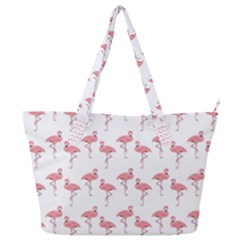 Pink Flamingo Pattern Classic Full Print Shoulder Bag by CrypticFragmentsColors