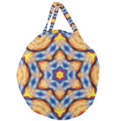 Pattern Abstract Background Art Giant Round Zipper Tote by Sapixe