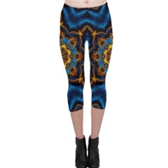 Pattern Abstract Background Art Capri Leggings  by Sapixe