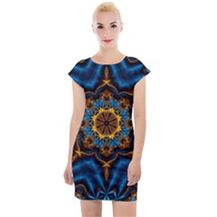 Pattern Abstract Background Art Cap Sleeve Bodycon Dress