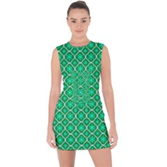 Texture Background Template Rustic Lace Up Front Bodycon Dress