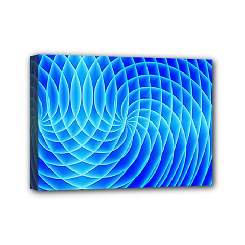 Background Light Glow Abstract Art Mini Canvas 7  X 5  (stretched)