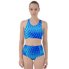 Background Light Glow Abstract Art Racer Back Bikini Set