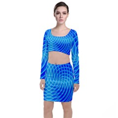 Background Light Glow Abstract Art Top And Skirt Sets by Sapixe