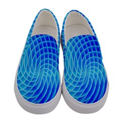 Background Light Glow Abstract Art Women s Canvas Slip Ons