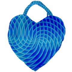 Background Light Glow Abstract Art Giant Heart Shaped Tote by Sapixe