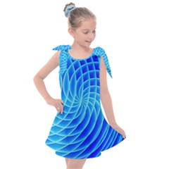 Background Light Glow Abstract Art Kids  Tie Up Tunic Dress by Sapixe
