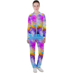 Background Drips Fluid Colorful Casual Jacket And Pants Set by Sapixe