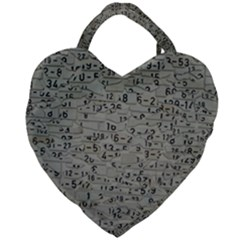 Art Letters Alphabet Abstract Text Giant Heart Shaped Tote by Sapixe