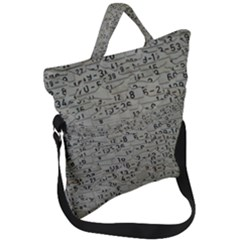 Art Letters Alphabet Abstract Text Fold Over Handle Tote Bag