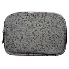 Art Letters Alphabet Abstract Text Make Up Pouch (small)