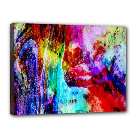 Background Art Abstract Watercolor Canvas 16  X 12  (stretched)