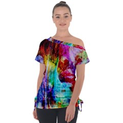 Background Art Abstract Watercolor Tie Up Tee by Sapixe