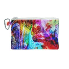 Background Art Abstract Watercolor Canvas Cosmetic Bag (medium) by Sapixe