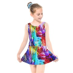 Background Art Abstract Watercolor Kids  Skater Dress Swimsuit