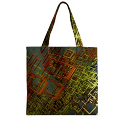 Art 3d Windows Modeling Dimension Zipper Grocery Tote Bag by Sapixe