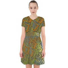 Art 3d Windows Modeling Dimension Adorable In Chiffon Dress