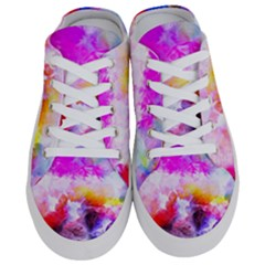 Background Drips Fluid Colorful Half Slippers