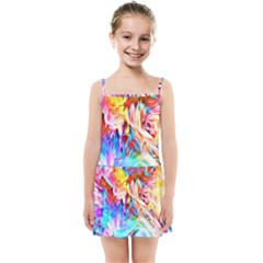 Background Drips Fluid Colorful Kids Summer Sun Dress by Sapixe