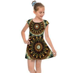 Pattern Abstract Background Art Kids Cap Sleeve Dress by Sapixe
