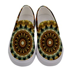 Pattern Abstract Background Art Women s Canvas Slip Ons